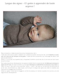 Article sur Maman vogue